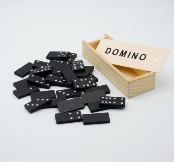 Domino Gesellschaftsspiel in Holzbox