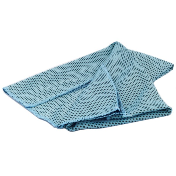 Kühltuch doppellagig cooling towel double layer hellblau