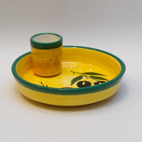 Oliventeller Keramik Spanien