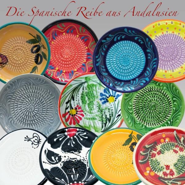 Spanische Reibe Ingwerreibe Knoblauchreibe Keramik Andalusien