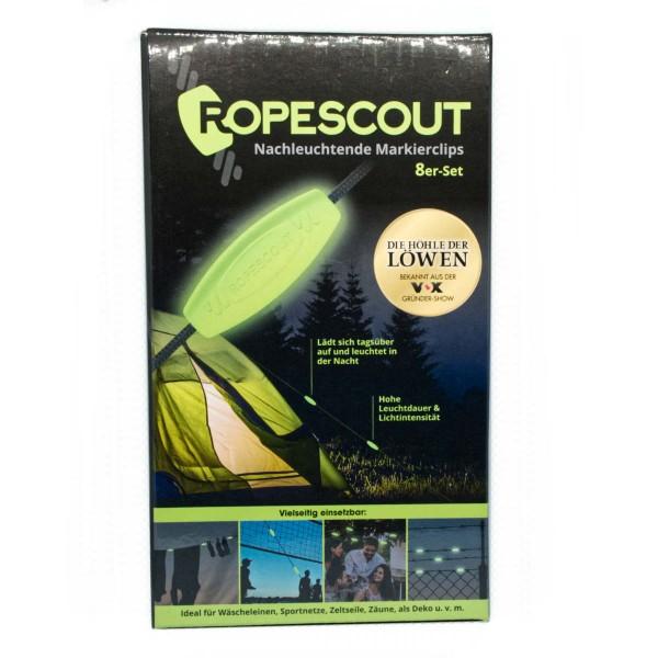 Ropescout Nachtleuchtende Markierclips 8er-Set